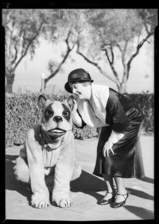 "Clara Kimball Young & Baby LeRoy with ""Bowzo the Dog"", Southern California, 1933"
