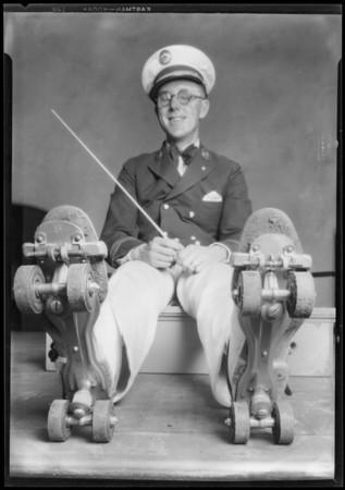 Roberts Golden State Band, Ambassador Skating Pavillion, Southern California, 1928
