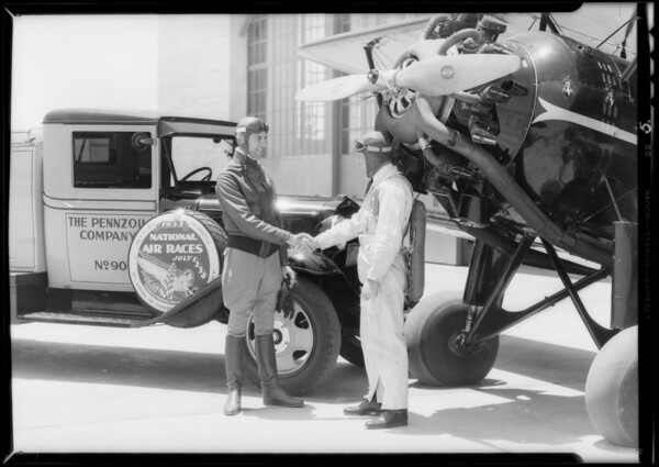 Publicity of air races, Los Angeles, CA, 1933