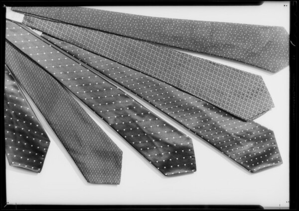 Ties, Southern California, 1933