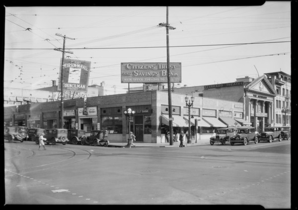 Citizens Trust & Savings, 7th Street & Alvarado Street branch, Los Angeles, CA, 1927