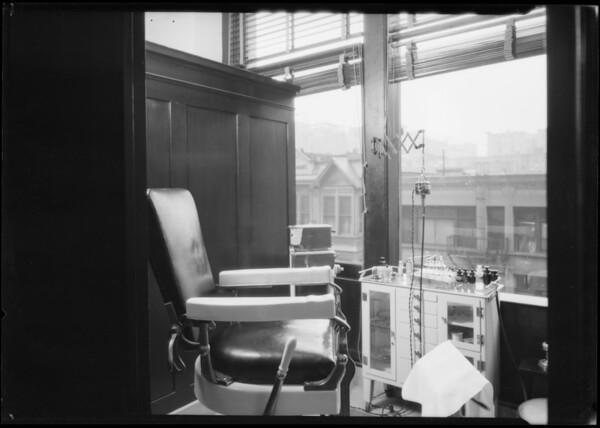Dr. Hannock, chiropodist department, Broadway Department Store, Los Angeles, CA, 1925