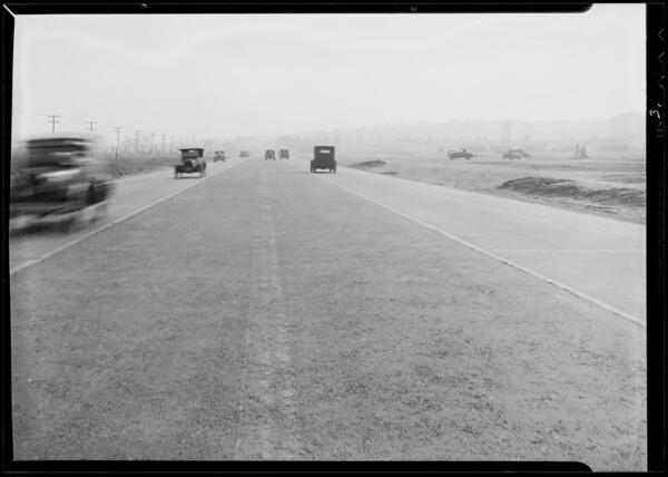 Wreck of car on Crenshaw Boulevard near 38th Street, Los Angeles, CA, 1932