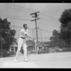 Clay Mahoney in action, Southern California, 1931