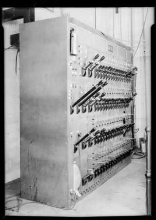 Hollywood Music Box Theatre switchboard, 6126 Hollywood Boulevard, Los Angeles, CA, 1931