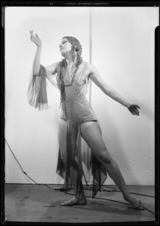 Portrait of dancer (daughter), Mrs. Totter, Southern California, 1934