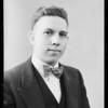 Fred H. Kramer, meat market man at Leimert Park, Southern California, 1928