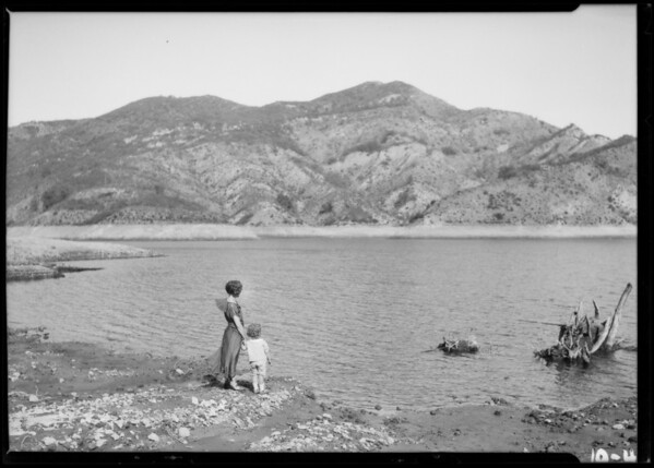 Bel Air Lake, Los Angeles, CA, 1924