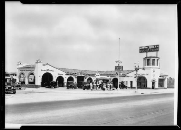 Retouched West 2nd Street & South La Brea Avenue building, Los Angeles, CA, 1931