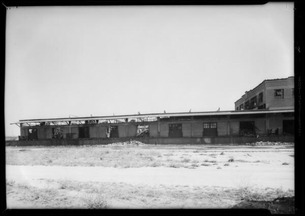 Warehouse fire, Southern California, 1933