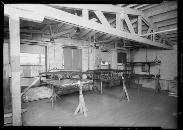 Interior of mattress factory, East 4th Street and South Alameda Street, Los Angeles, CA, 1934