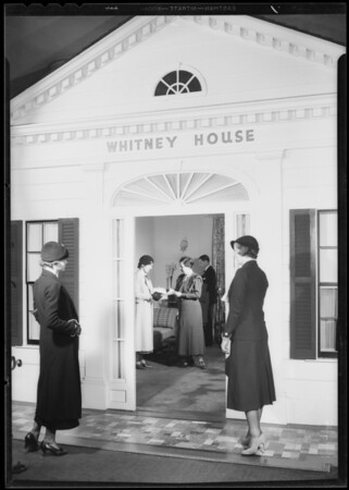 Whitney House, merchandise orders, May Co., Southern California, 1933