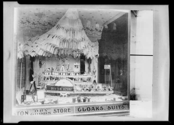Old window displays, Southern California, 1932