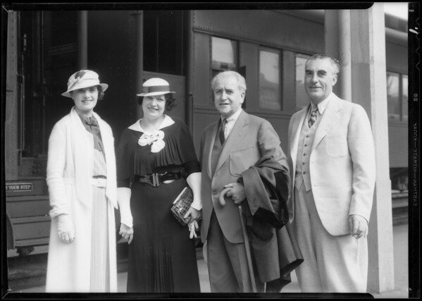 Arrival at U.P. Depot, Southern California, 1933