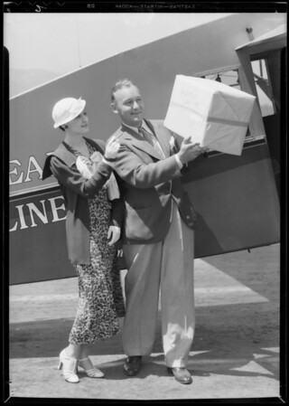 Mailing package to San Francisco, Southern California, 1933
