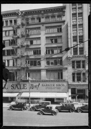 Southern portion of Barker Bros. building, Southern California, 1925