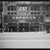 Marquee of Orpheum Theatre, Los Angeles, CA, 1932