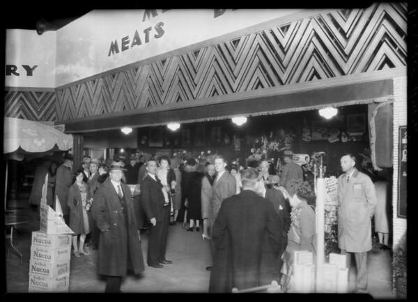 Opening new market, night shots, Southern California, 1928