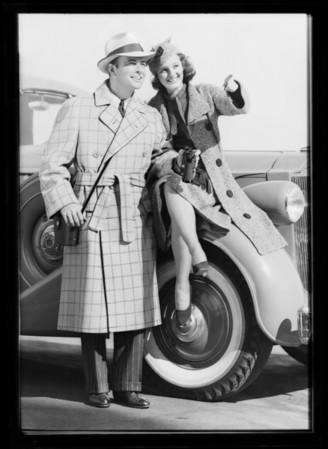 Fall fashions, Southern California, 1937
