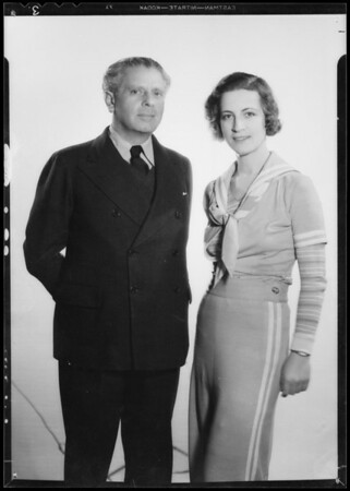 Portrait with Reinhast, Southern California, 1934