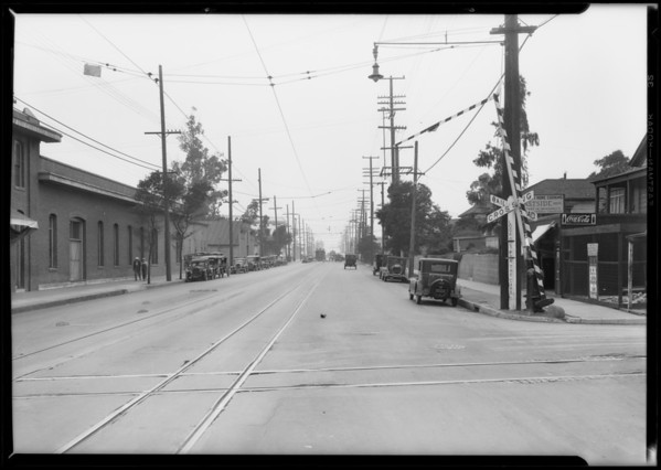 Railroad signals, Pacific Indemnity, Southern California, 1928