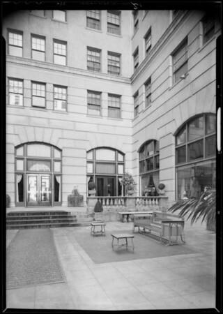 Patio of Arcade Apartments, Southern California, 1932