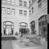 Patio of Arcade Apartments, Southern California, 1932