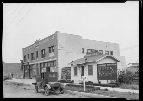 Wilshire real estate office, Los Angeles, CA, 1925