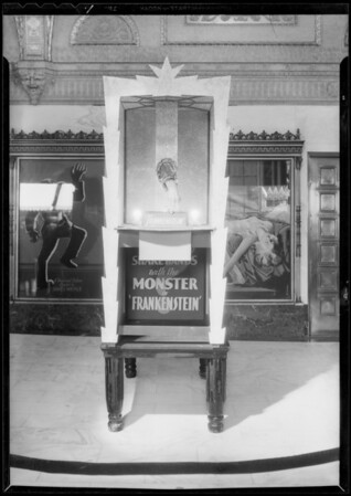 Illusion in lobby of the Orpheum Theatre, Los Angeles, CA, 1932
