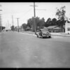 Intersection of Halldale Avenue and West Exposition Boulevard, Los Angeles, CA, 1934