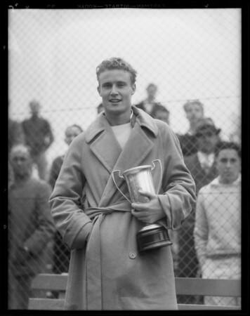 City championship, tennis, Griffith Park, Los Angeles, CA, 1932