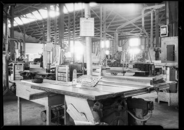 Saw at Word Refrigerator Company, Southern California, 1931