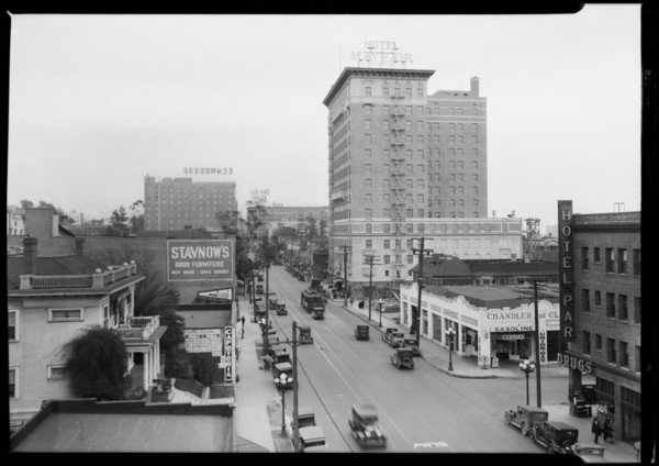 7th Street and Mayfair Hotel, 1256 West 7th Street, Los Angeles, CA, 1927