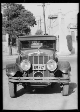 Franklin sedan, B. Brownstein, owner, Southern California, 1934