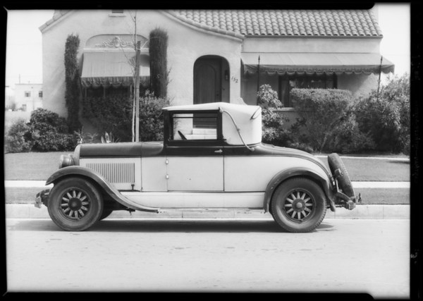 Chrysler damage, Humphreys vs. Cohen, Southern California, 1934