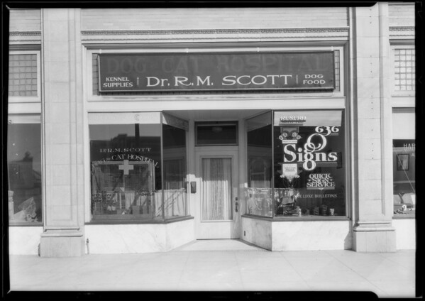 R.M. Scott office exterior, Los Angeles, CA, 1925