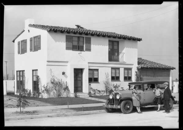 Leimert Park publicity shots, Los Angeles, CA, 1928