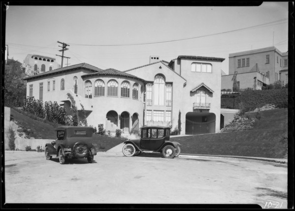 Hillside homes, Southern California, 1924