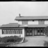 Residence owned by W.F. Robinson, windmill and solar device, Puente Street, Covina, CA, 1925