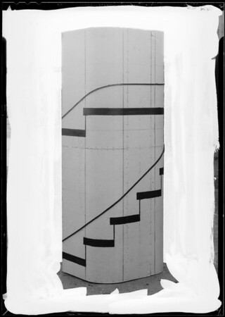 Design of spiral staircase, Southern California, 1934