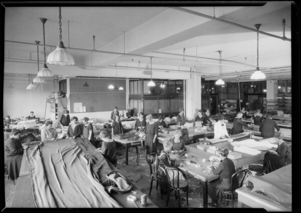 Drapery workroom, Broadway Department Store, Los Angeles, CA, 1926