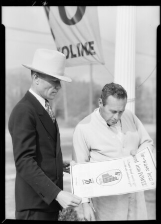 Salesman showing chart, Southern California, 1932