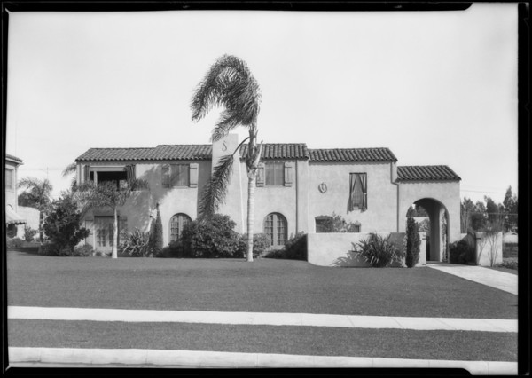House, 68 Fremont Place, Los Angeles, CA, 1926