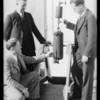 Drs. Bray, Gard, & Merrill at refinery, Southern California, 1934