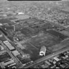 Aerial photographs of Goodyear factory, Los Angeles, CA, 1956