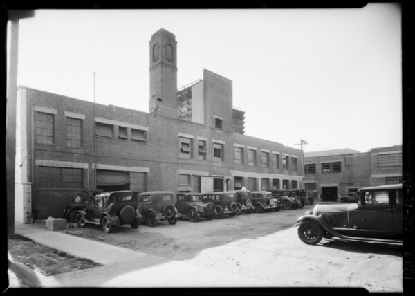 Exterior of Borden's building, 1045 South Wall Street, Los Angeles, CA, 1934