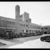 Exterior of Borden's building, 1045 South Wall Street, Los Angeles, CA, 1934