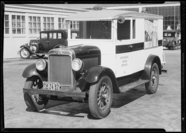 Continental Baking Co. truck & intersection of Crenshaw Boulevard & 46th Street, Los Angeles, CA, 1934