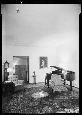 Indirect lighting in model rooms, Los Angeles, CA, 1933