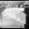 Dry ice on car, Southern California, 1934